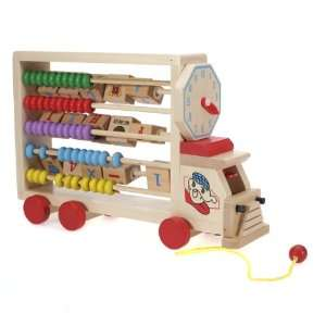 Children Wooden Toy Alphabet Numeral Learning Car Toys & Games