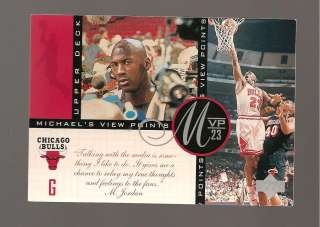 MICHAEL JORDAN UPPERDECK 1997 MVP23 CARD # VP9 PREMIUM OVERSIZED CARD