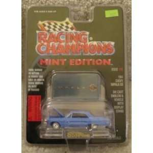 1964 BLUE CHEVY CHEVROLET IMPALA SS  RACING CHAMPIONS MINT