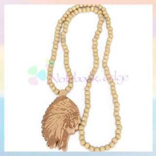 GOOD WOOD NECKLACE WOODEN CHARM PENDANT BALL BEADS CHAIN PIECE SELECT
