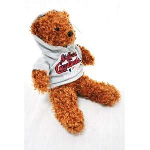 CARDINALS OFFICIAL MLB LOGO 8IN SPECIAL FABRIC PLUSH HOODIE TEDDY BEAR