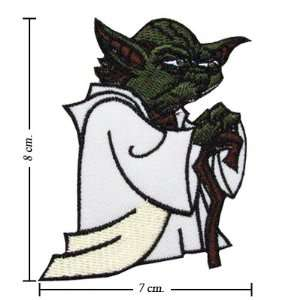 3pcs Star Wars Yoda Logo 1 Embroidered Iron on Patches Kid