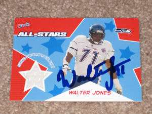 WALTER JONES AUTO SIGNED AUTOGRAPH SEATTLE SEAHAWKS JERSEY CARD HOFer