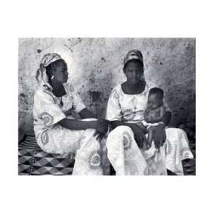 Lami and Hawa, Co Wives, African American People Note Card