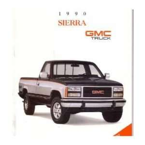 1990 GMC SIERRA Sales Brochure Literature Book Piece