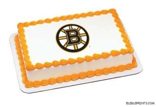 Boston Bruins Edible Image Icing Cake Topper