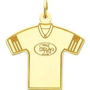 Gold NFL San Francisco 49Ers Football Jersey Charm
