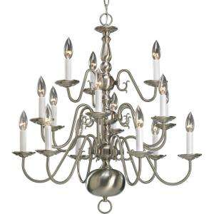 Progress Lighting Americana Collection Brushed Nickel 15 light