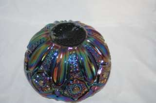 GLASS HERITAGE COLLECTION AMETHYST CARNIVAL GLASS BOWL EXCELLENT COND