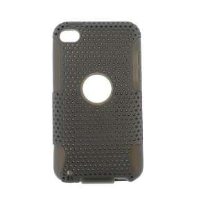 Apple iPod Touch 4 2 IN 1 HYBRID Hard SILICON CASE GRAY