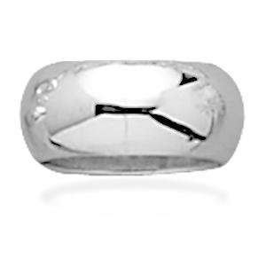 Band Ring Sterling Silver Polished Hollow Mens Womens 10mm