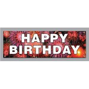 2x4 Happy Birthday Vinyl Banners Vinyl Signs by