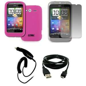 EMPIRE HTC Wildfire S Hot Pink Silicone Skin Case Cover