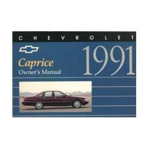 1991 CHEVROLET CAPRICE Owners Manual User Guide