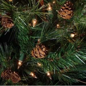 Pre Lit Mixed Country Pine Artificial Christmas Wreath   Clear Lights