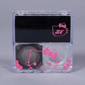 Hello Kitty Contact Lens Case Box Mirror Black