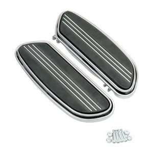 BK Rider Streamline Driver Floorboards Chrome (pr) for Harley Davidson