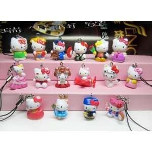 Pcs Mixed Hello Kitty Cell Phone Pendant Charm Figure