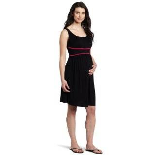 Three Seasons Maternity Womens Sleeveless Solid Dress with Waist