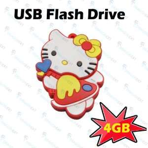 Hello Kitty Cat Cartoon 4GB USB Drive Flash Memory Stick Electronics