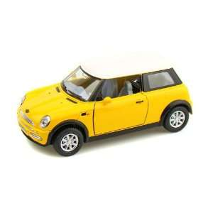 Mini Cooper 1/28 Yellow  Toys & Games