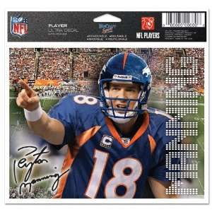 Denver Broncos Official Peyton Manning 4.5x6 Car Window Cling Decal