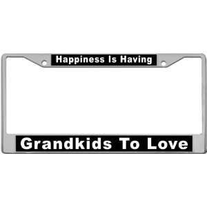 Grandkids To Love   Custom License Plate METAL Frame from
