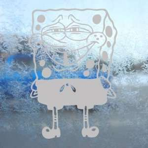 SpongeBob Gray Decal Squarepants Car Truck Window Gray