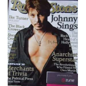 Rolling Stone Magazine January 24 2008 Johnny Depp
