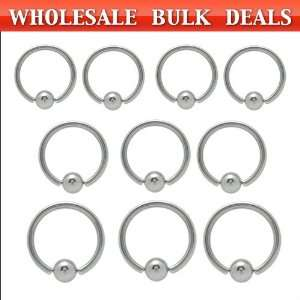 200 Surgical Steel Captive Bead Rings   Bulk12 Jewelry