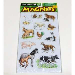 12 Farm Animal Magnets Toys & Games