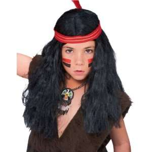 Childrens Indian Boy Costume Wig Toys & Games
