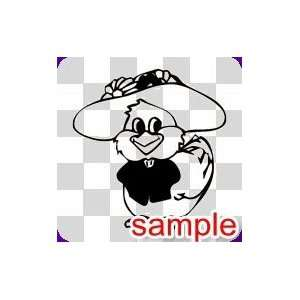 CARTOON FANCY CHICK WHITE VINYL DECAL STICKER Everything
