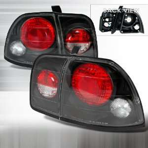 HONDA 2/4 DR ACCORD TAIL LIGHTS BLACK Automotive