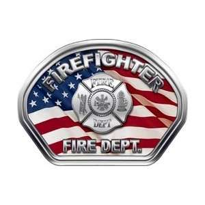 Firefighter Fire Helmet Front Face Firefighter American