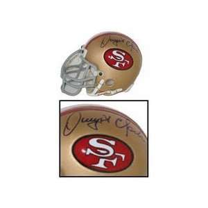 Dwight Clark Autographed San Francisco 49ers Riddell Old