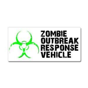 Zombie Outbreak Response Vehicle Green   Window Bumper