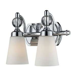 Martina Collection Polished Chrome 2 Light 13 Bathroom Vanity Light