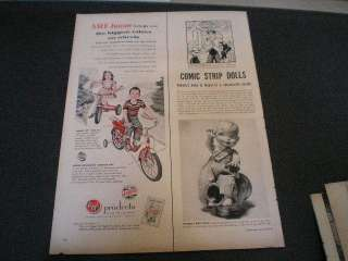 1953 AMF Junior Tricycle Bicycle Training Wheels Ad