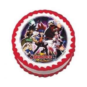 Anime Beyblade Round Edible Icing Cake Topper Decoration