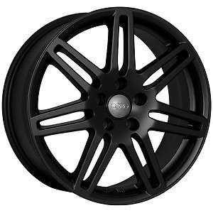 18 RS4 Wheels Rims Matte Black Fit Audi A6 C4, C5, C6 and C7 chassis