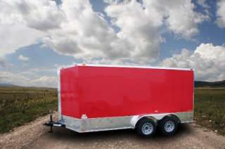 NEW 7X16 TANDEM AXLE ENCLOSED CARGO MOTORCYCLE TRAILER