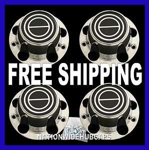 FORD F 150 BRONCO CHROME Black Wheel Center Cover 5 Lug Hub Caps Rim