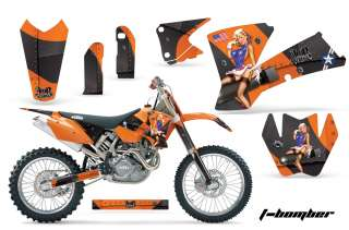 AMR RACING MX DECO STICKER GRAPHIC KIT KTM 03 04 EXC XC 01 02 SX 125
