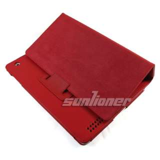RE Leather Case Cover for Apple iPad 2+Screen Protector